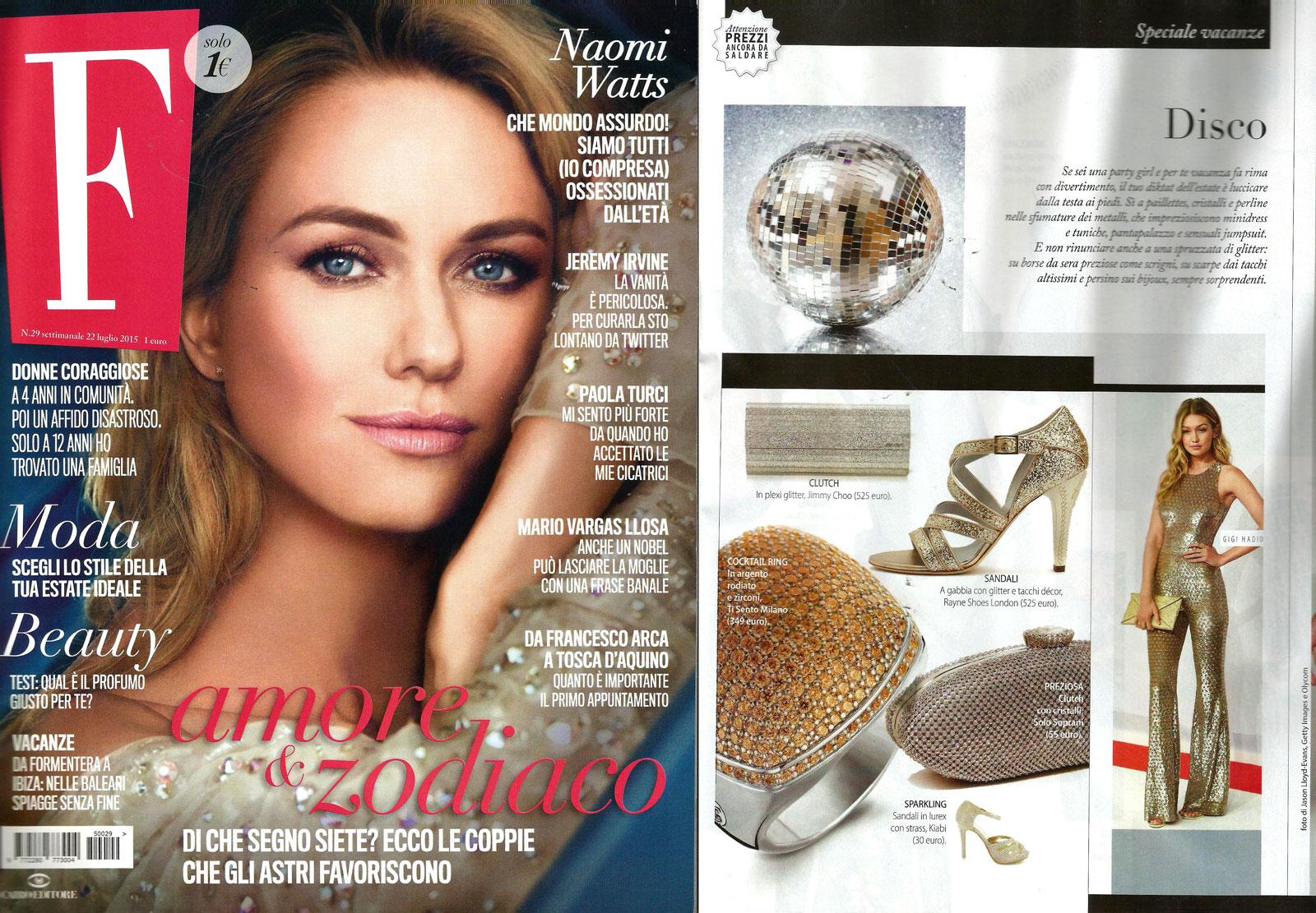 Rayne on F Magazine issue July 2015