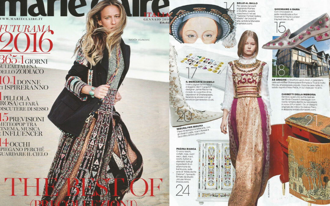 Rayne on MARIE CLAIRE issue January 2016