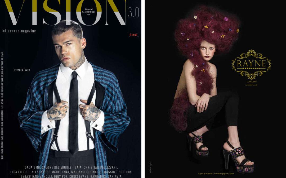 Alain Tondowsky and Rayne on VISION issue April-May 2016