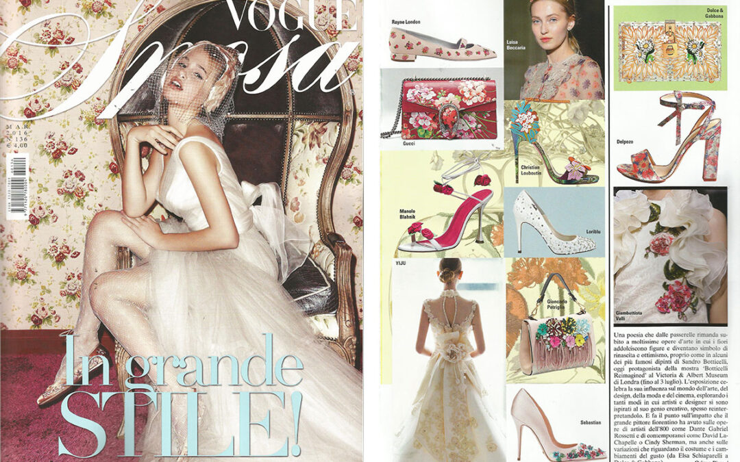 Rayne on VOGUE SPOSA issue March 2016