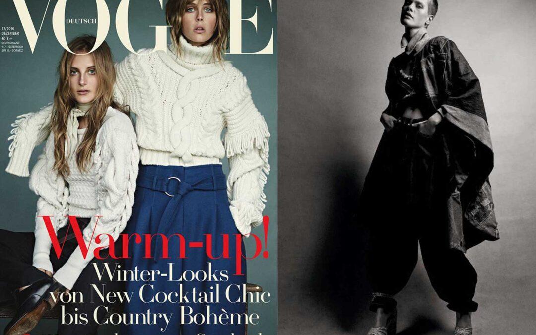 Antolina on Vogue deutsch issue December 2016